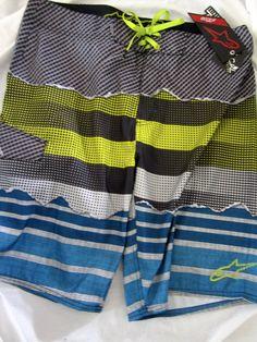 NWT Alpinestars Tactical Boardshorts yellow FMX Surfing Swim men's waist size 36 #Alpinestars #BoardShorts