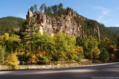 Spearfish Canyon in the Black Hills of South Dakota.  20 miles of scenic driving, waterfalls and great hiking.