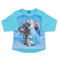 Long-sleeved Disney Frozen top with large illustration from the film