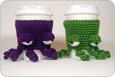 Ravelry: Grumpy Octopus Coffee Cup Cozy pattern by Twinkie Chan