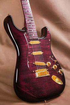 """This is the """"Purple Reign"""" Stratocaster, built by Yuriy Shishkov of the Fender Custom Fender American Deluxe, American Standard Stratocaster, Fender American Standard, Fender Deluxe, Fender Stratocaster, Fender Guitars, Gretsch, Paul Reed Smith, Fender Custom Shop"""