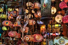 All lit up in the Grand Bazaar Istanbul