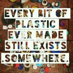 Every bit of plastic you've ever used is still on the planet. Now consider that the entire world population's share of plastic is still on the earth 🌎 _____________________________________________________ Save Our Earth, Save The Planet, Our Planet, Planet Earth, Planet Ocean, Ocean Life, We Are The World, In This World, Scary Facts