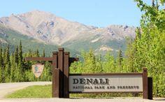 Denali National Park Visitor Center   the denali national park entrance sign