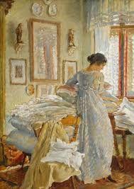 "huariqueje: "" Cleaning corner at home - Jakub Obrovský, 1914 Oil on canvas "" Art Competitions, Art Hoe, Magick, Oil On Canvas, Fine Art, Illustration, Artist, Inspiration, Design"