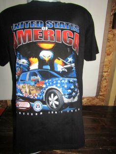 bdd1672c United States Of America Freedom Truck T Shirt Shirt Outfit, American Flag,  Graphic Tees
