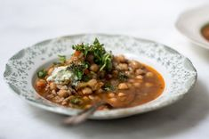 Spicy chickpea and bulgar soup