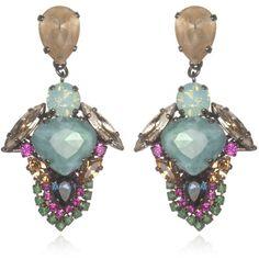 Erickson Beamon Modern Mogul Earrings (5.545 ARS) ❤ liked on Polyvore featuring jewelry, earrings, swarovski crystal jewelry, erickson beamon and erickson beamon jewelry