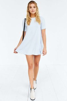 Silence + Noise Mercy Seamed Swing Dress - Urban Outfitters
