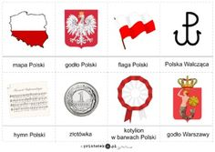Polska - Symbole Polski - karty obrazkowe - Printoteka.pl Montessori Materials, Teaching Materials, Science For Kids, Art For Kids, Polish Symbols, Learn Polish, Poland History, Polish Language, Poland Travel