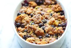Baked Blueberry Lemon French Toast - Amazingly sweet and scrumptious make-ahead french toast using King's Hawaiian bread!