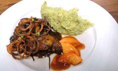 Rezept: Hühnerleber mit Apfel-Quitte-Spalten und Fenchel-Kartoffelpürrée Bild Nr. 10