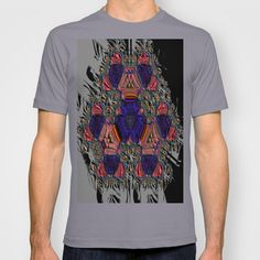 Snowflake Town T-shirt by K Shayne Jacobson - $18.00