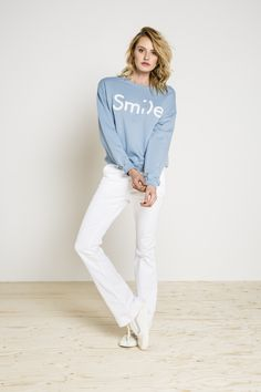 smile pull - ash blue  | BY-BAR - NEW COLLECTION