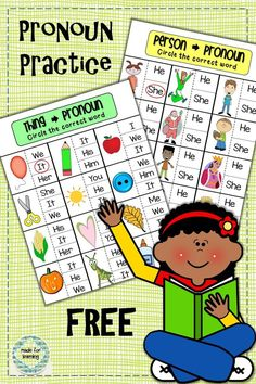 FREE practice activities with simple pronouns