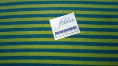 Stoff Streifen - HILCO JANNE NICKI, Ringel grün-petrol, 0,25m - ein Designerstück von fidelux bei DaWanda