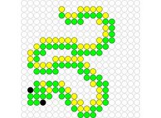 Snake perler bead pattern Source by jbirambi Perler Bead Templates, Pearler Bead Patterns, Perler Patterns, Pearler Beads, Loom Beading, Beading Patterns, Pokemon Perler Beads, Iron Beads, Melting Beads
