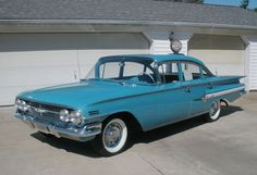Car of the Week: 1960 Chevrolet Impala...reminds me of Grandma's car....could have been a Bel Air or Biscayne...but it was definitely blue