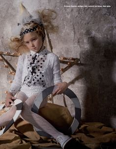 Editorial: COME TO THE CIRCUS! Ph.: Angela Improta. Styled by Sabrina Mellace.  Ermanno Scervino cardigan, shirt, swimsuit and shoes. Gallo tights. #ErmannoScervino #cardigan #shirt #swimsuit #shoes  #Gallo #tights @ermannoscervino  #dress #kidswear #kidsfashion #fashion #childrenswear #look #style #ideas