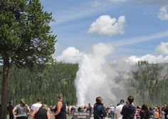 Old Faithful in Yellowstone was just getting started.