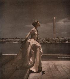 Julius Garfinckel & Co 1947, Dress Nettie Rosenstein -Photo by Toni Frissell