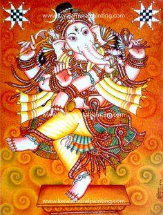 Image result for mural painting dancing ganpati