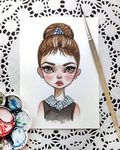 My love Holly Golightly Watercolor postcard. Already available in my Etsy. Link in profile #art #illustration #watercolorart #watercolor #postcard #etsy #AudreyHepburn #blackfury
