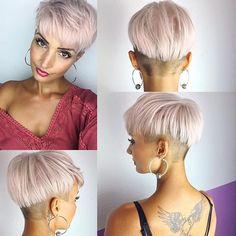 Da mich gestern ganz viele gefragt haben ob ich eine rundum Ansicht meiner Frisur zeigen kann ist hier das Foto  #hair #hairstyle #haircut #haircolor #rose #pastelhair #pastelrose #pixie #pixies #pixiecut #undercut #sidecut #beauty #beautiful #tattoo #tattoogirl #inked #photo #photooftheday #love #amazing