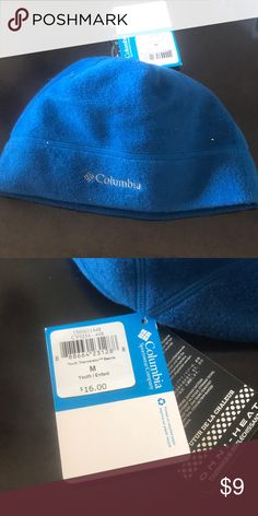 NWT youth medium blue Columbia hat NWT youth medium blue Columbia Omni heat thermal reflective hat Columbia Accessories Hats