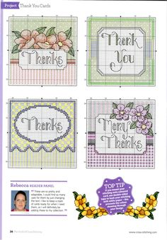 Cross stitch Cards.TWO
