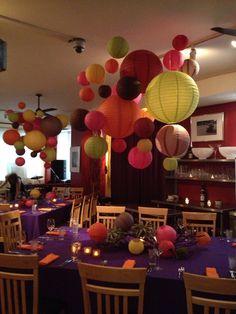 Paper lanterns decor.....