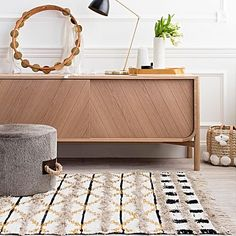 Inject tribal vibes in your space with the Aztec-inspired design and tassel edges of the Trails Rug, Cream from Amigos De Hoy.