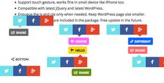 Share Button WordPress Plugin . Help you to add Twitter, Facebook, and Google Plus share button to your WordPress