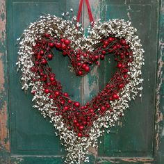 Heart Wreath -  Outdoor Valentine Wreath