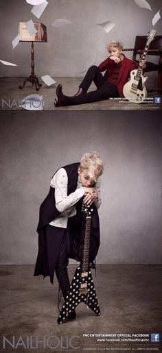 #FTISLAND Lee Hong Ki, Rocks Out as a Blonde Rocker More: http://www.kpopstarz.com/articles/47963/20131105/ftisland-lee-hong-ki-turns-blonde.htm