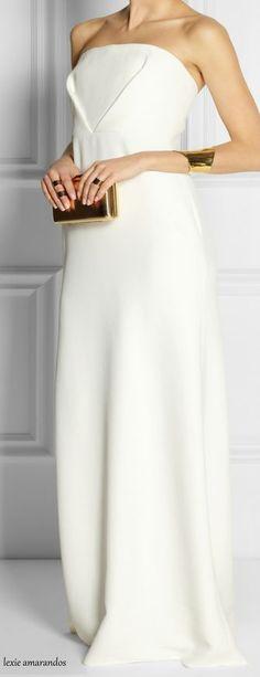 Calvin Klein ~ Spring White Sleeveless Gown