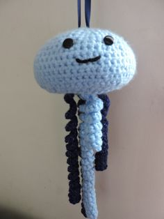 Pale Blue Crochet Jellyfish £8.50