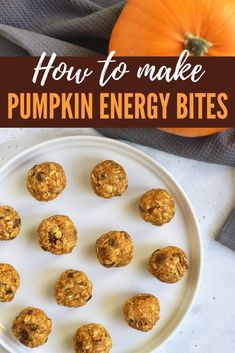 Learn how to make Pumpkin Energy Bites–the perfect snack to make with the kids or bring to a holiday party. This recipe calls for just 6 ingredients and is so easy to make! #Vegan #GlutenFree #KidFriendly #HolidaySnacks #HealthyRecipes #6Ingredients Paleo, Healthy Vegan Snacks, Keto, Easy Homemade Snacks, Snacks To Make, Fall Recipes, Real Food Recipes, Snack Recipes, Dessert Recipes