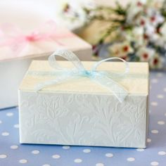 Rectangular Embossed Favor Boxes by Beau-coup