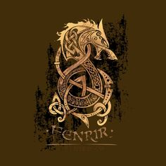 Fenrir: The Monster Wolf of Norse Mythology None  by Celtic Hammer Club Apparel