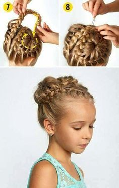 wedding hairstyles easy hairstyles hairstyles for school hairstyles diy hairstyles for round faces p Flower Girl Hairstyles, Fancy Hairstyles, Little Girl Hairstyles, Hairstyles For School, Braided Hairstyles, Latest Hairstyles, Braided Ponytail, Hairstyle Ideas, Girl Hair Dos