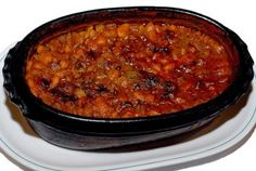 TAVCHE GRAVCHE (BAKED BEANS) Baked beans or tavche gravche is a traditional Macedonian dish which is made in a traditional earthenware. It's one of the most famous Macedonian dishes, healthy and easy to prepare.