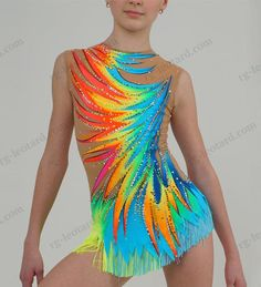 In our beautiful competition rhythmic gymnastics leotard Sunshine for girls you will feel confident and stay focused only on your performance!