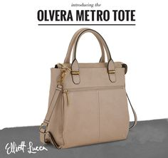 A new shape this season, the Olvera Metro Tote is versatile featuring both a crossbody strap and top handles. Both inside pockets and a back wall pocket are perfect storage to stash your essentials away and rock this tote from work to weekend. Shop now.