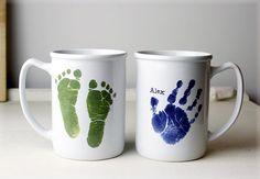 Ceramic Mug  Handprint & Footprint Pottery by ForeverPrintsPottery, $30.00