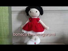 Boneca amigurumi... Créditos: Prasapporn Sukcharoensuk ( Pinterest) Part 4 - YouTube Crochet Hedgehog, Crochet Cow, Crochet Amigurumi Free Patterns, Crochet Doll Pattern, Baby Knitting Patterns, Knitted Dolls, Crochet Dolls, Smurfette, Amigurumi Tutorial