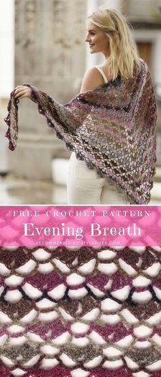 Stunning Evening Shawls Free Crochet Pattern | DIY