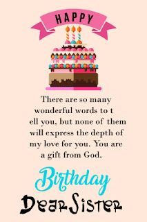 90 Happy Birthday Sister Quotes, Funny Wishes, Cake Images Collection Happy Birthday Sister Messages, Happy Birthday Brother From Sister, Happy Birthday Quotes For Friends, Happy Birthday Wishes Quotes, Happy Birthday Fun, Funny Birthday, Happy Birthdays, Birthday Cake, Happy Birthday Paragraph