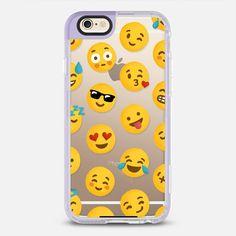 Emoji Love Transparent Case - New Standard Case in Lavender Violet by @drawmeasong | @casetify