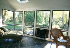 Vixen Hill Modular Screened Porch System can be installed in a single day. Use our online software to design a new porch or retrofit an existing one. Screen Porch Systems, 3 Season Porch, Four Seasons Room, Palm City, Home Goods Decor, Home Decor, Air Conditioning Services, Wooden Shutters, Wrought Iron Gates